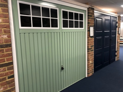Garador Salisbury Up and Over garage door in Chartwell Green, built to Secure By Design SBD standards